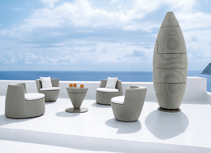Outdoor Living Design Dedon Gloster and Roche Bobois
