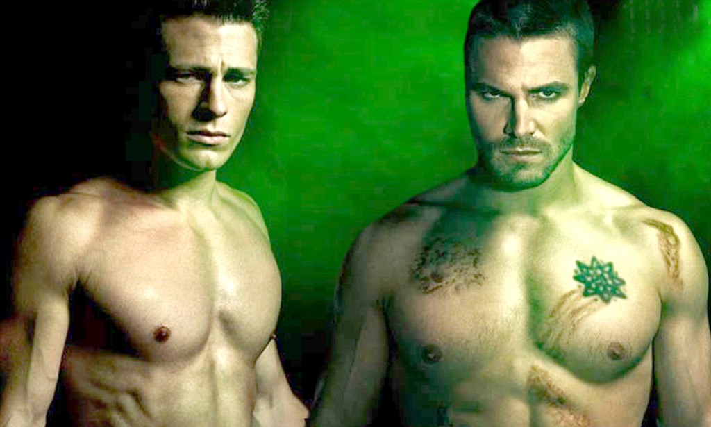 Colton Haynes appears shirtless in new Arrow posters