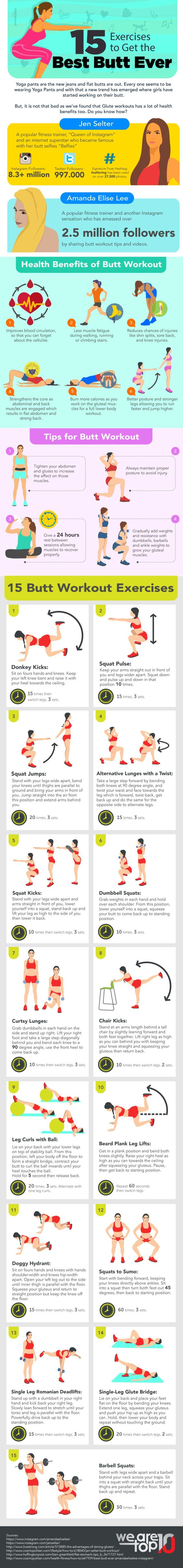 15 Exercises to Get the Best Butt Ever